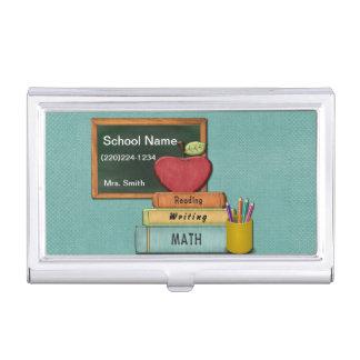 Teachers', Apple、本および鉛筆を個人化して下さい 名刺入れ