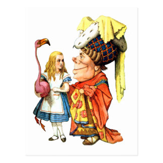 TEACHESアリスFLAMINGO CROQUET公爵夫人 ポストカード