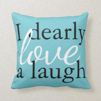 Teal Pride Prejudice Pillow Jane Austen Book Quote クッション