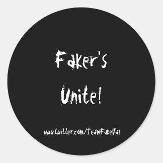 TeamFakeValの詐欺師はステッカーを結合します ラウンドシール