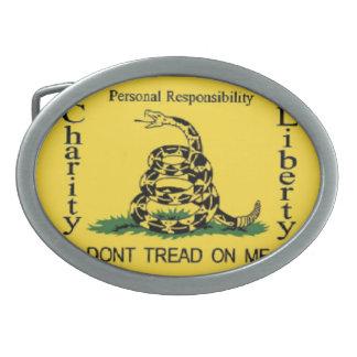 Teapartyのベルトの留め金 卵形バックル