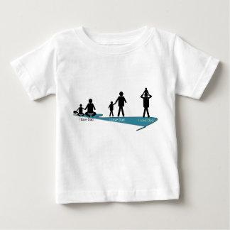 TechWords - I愛パパのワイシャツ-暖かい人間関係 ベビーTシャツ