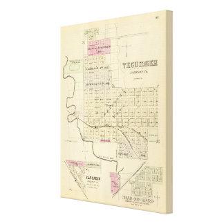 Tecumseh、ネブラスカ キャンバスプリント