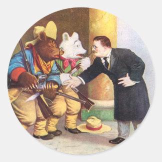 Teddy Rooseveltおよびルーズベルトくまのカウボーイ ラウンドシール