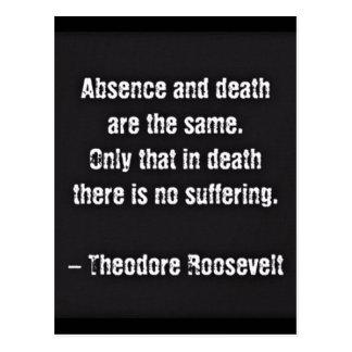 Teddy Rooseveltの引用文-不在および死 ポストカード