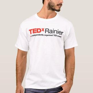 TEDxの雨の人の白いTシャツ Tシャツ