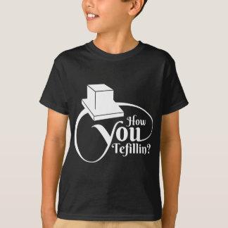 """Tefillin""かいかに(白) Tシャツ"