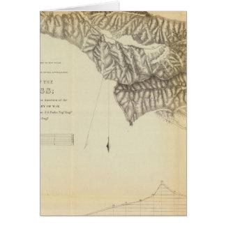 Tejonのパスの地図そしてプロフィール カード
