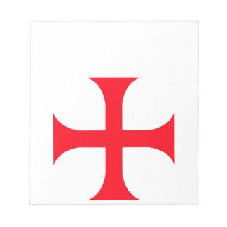 Templarの赤十字 ノートパッド