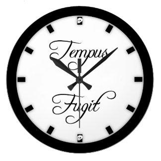 Tempus Fugitの時間はゴシック様式を飛ばします ラージ壁時計