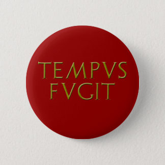 Tempus Fugitボタン 5.7cm 丸型バッジ