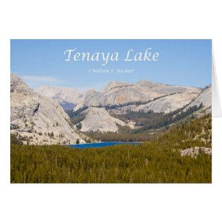Tenaya湖のヨセミテカリフォルニアプロダクト カード