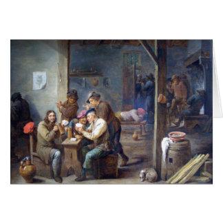 Teniersより若いの-居酒屋場面1658年 カード