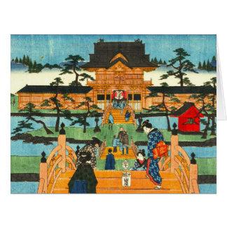 Tenmanguの神社1853年 ビッググリーティーングカード