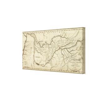 Tennassee sicの政府の地図 キャンバスプリント