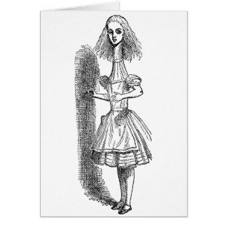 Tenniel著不思議の国のヴィンテージのアリスの冒険 グリーティングカード