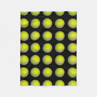Tennis_balls、_Yellow_Black_Small_Fleece_Blanket. フリースブランケット