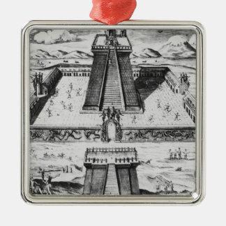 TenochtitlanのTemploの市長 メタルオーナメント