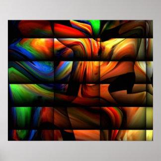 TEOアルフォンソによるDIGITALのカラフルな芸術 ポスター