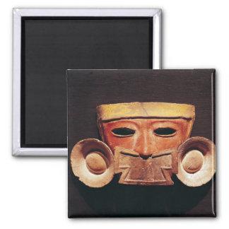 Teotihuacanからの人間のマスク、 マグネット