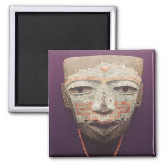 Teotihuacanからの葬儀のマスク マグネット
