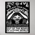 Terence Mckennaの引用文-あなたの心を開拓して下さい ポスター