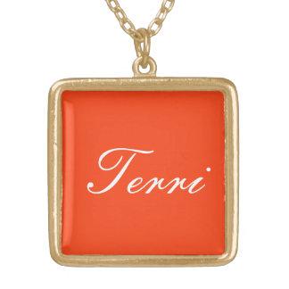 Terriのジュエリー ゴールドプレートネックレス