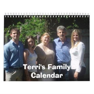 Terriの家族のカレンダー カレンダー