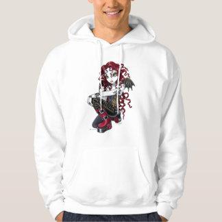 """""""Terri""""のゴシック様式赤いバラの妖精のファンタジーのフード付きスウェットシャツ パーカ"""