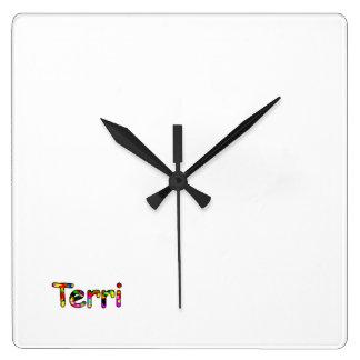 Terri スクエア壁時計