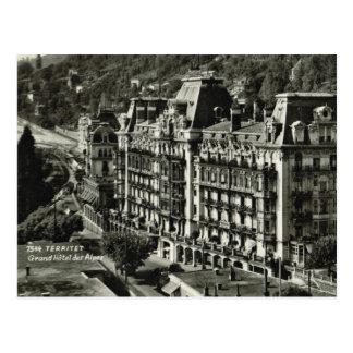 Territet、グランデホテルdes Alpes ポストカード