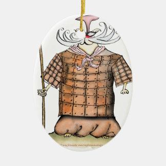 Terrorcattaの軍隊責任者の魚の修道士、贅沢なfernandes セラミックオーナメント