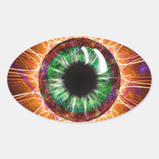 Teslaの他の目のフラクタルの芸術 楕円形シール
