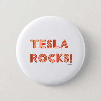 Teslaの石! 5.7cm 丸型バッジ