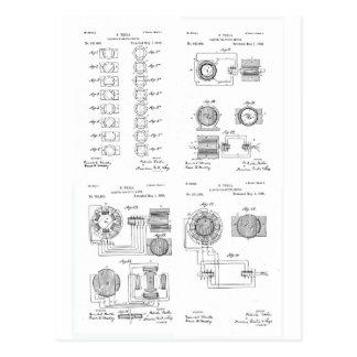 TeslaのElecro磁石モーターパテントUS381968 p 1-4 ポストカード