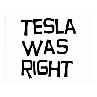 Teslaは右でした ポストカード