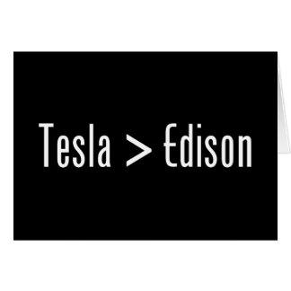 Tesla >エジソン カード