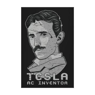 Tesla AC発明家の暗闇 キャンバスプリント