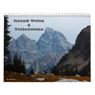 Tetonおよびイエローストーンの壮大なカレンダー カレンダー