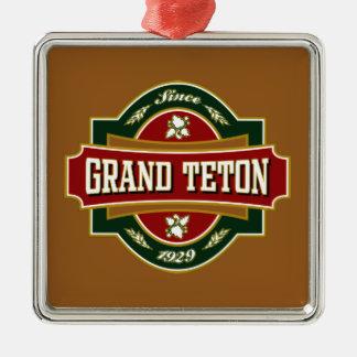 Tetonの壮大な古いラベル メタルオーナメント