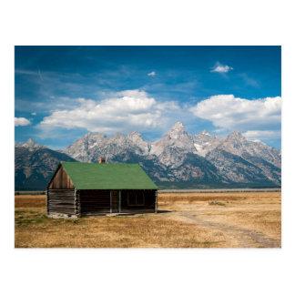 Tetonの壮大な国立公園のモルモンの列 ポストカード