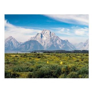 Tetonの壮大な国立公園の山Moran ポストカード