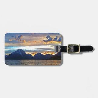 Tetonの壮大な国立公園の日没 ラゲッジタグ