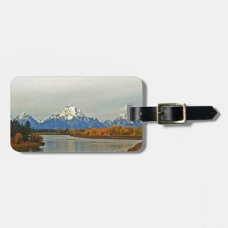 Tetonの壮大な国立公園の秋 ラゲッジタグ