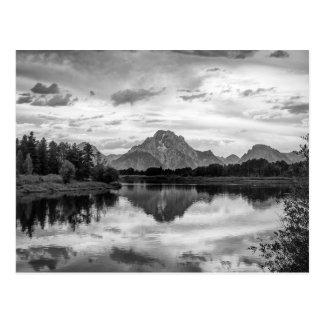 Tetonの壮大な国立公園のOxbowのくねり ポストカード