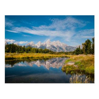 Tetonの壮大な国立公園のSchwabacherの着陸 ポストカード