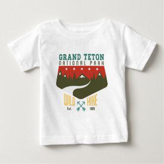 Tetonの壮大な国立公園ワイオミング ベビーTシャツ