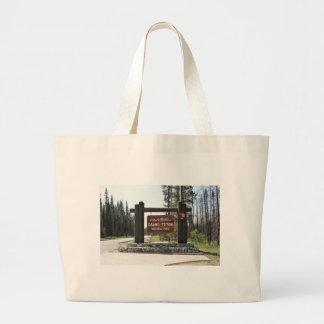 Tetonの壮大な国立公園、米国の国立公園、印 ラージトートバッグ
