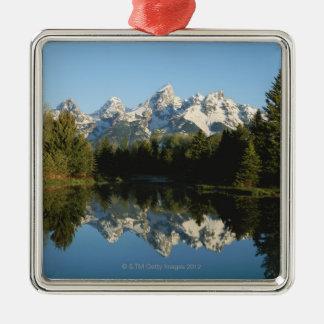 Tetonの壮大な国立公園、Teton範囲、ワイオミング、 メタルオーナメント