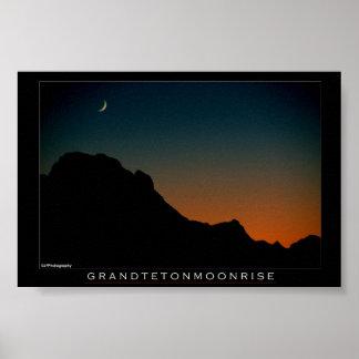 Tetonの壮大なMoonrise ポスター